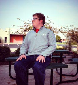 Alex Sitting Outside the Arc