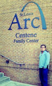 Alex at the St. Louis Arc