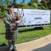 Bagpiper at Golf Tournament
