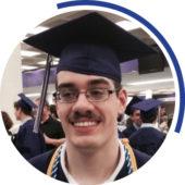 Dylan at graduation