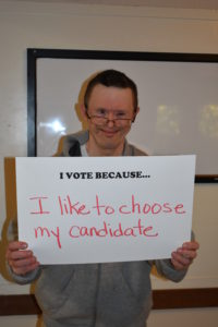 I vote because I like to choose my candidate